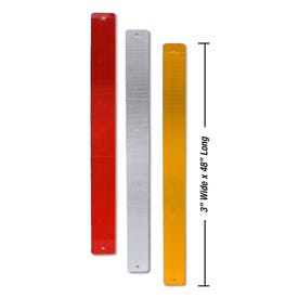 3in W x 48in L High Visibility Reflective Aluminum Sign Post Panels