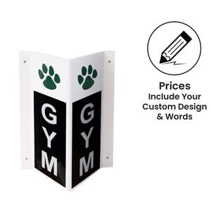 Double Sided V-Shape Side Mount Signs for Schools - Custom Plastic Sign
