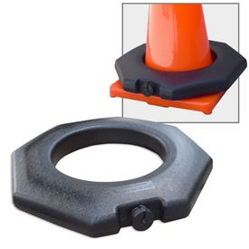 Blow Molded Plastic Octagon Base Traffic Cone Weight Ring Stablizer BP14