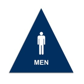 California Title 24 Compliant Triangle Room I.D. Signs - Men CA3