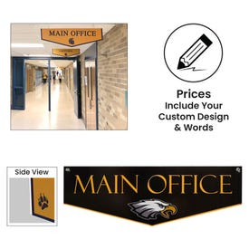 Ceiling Hung Custom Plastic Sign w/ Metal Grommets CH36, CH36D, CH18D, CH48D