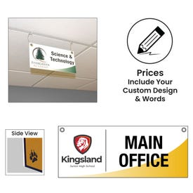 Double Sided Ceiling Hung Custom Plastic Sign CH6D, CH8D, CH12D