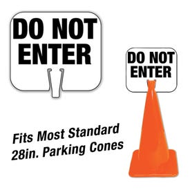 High Visibility Plastic Traffic Cone Signs Do Not Enter Pre-Printed Message CS18