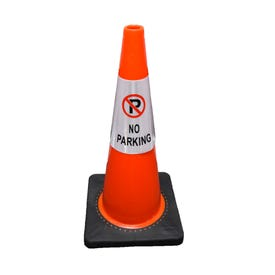 Part No. CS902 Reflective Traffic Cone Sleeve Sign - No Parking