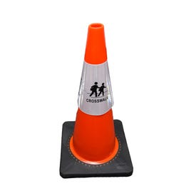 Part No. CS904 Reflective Traffic Cone Sleeve Sign - Crosswalk