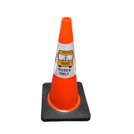 Part No. CS908 Reflective Traffic Cone Sleeve Sign - Buses Only
