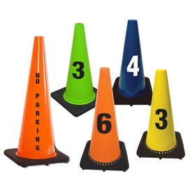 Custom Printed Parking and Traffic Cones - Add Words or Numbers