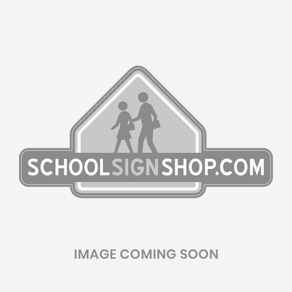 Safety Black Weighted Traffic Sign Bilingual Student Pick Up Drop Off Begins Here FS715