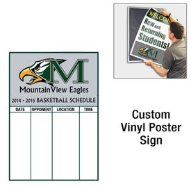 23in High Custom Printed Interchangeable Vinyl Sign for Display Frame D413P