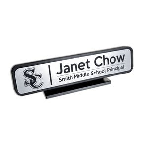 10in X 2in Custom Laser Engraved Plastic Sign With Bracket DS27