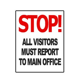 Stop/Visitors/Main Office Static Cling For DS3