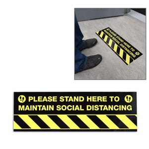 Social Distancing Vinyl Floor Decal Design 8 – All Surfaces