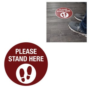 Social Distancing Round Vinyl Floor Decal Design 1 – All Surfaces