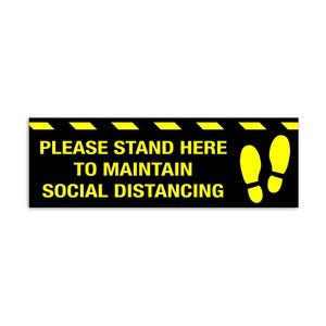 Social Distancing Vinyl Floor Decal Design 1 - All Flooring Surfaces Indoor & Outdoor