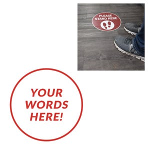 Social Distancing Round Vinyl Floor Decal Custom – All Surfaces