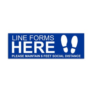 Social Distancing Vinyl Floor Decal Design 2 - All Surfaces