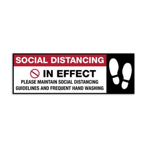 Social Distancing Vinyl Floor Decal Design 3 – All Surfaces