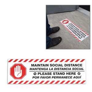 Social Distancing Vinyl Floor Decal Design 6 – All Surfaces
