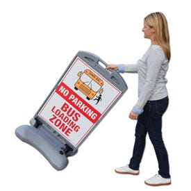 57in XL Roll-Away Sign Base 24in x 36in Sign Face Parking Lot Traffic Sign FS300