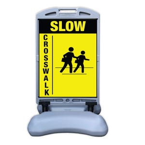 Part No. FS300JJ Slow Crosswalk Sign w/ Tip and Roll Base