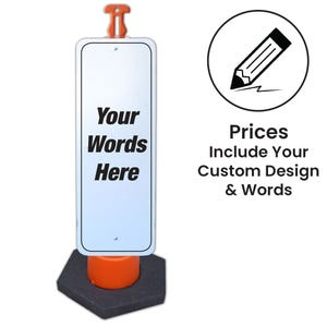 Custom Your Words Here 48in. High Reflective Sign & Post Kit Part No. FS804 FS802