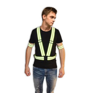 High Visibility Crossing Guard Equipment Reflective Stripe Safety Belt or Harness