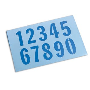 9in Number Height Numerical Stencils Kit 0 to 9 Parking Lot Stencils KIT79