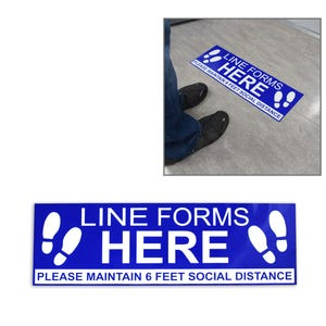 Social Distancing Vinyl Floor Decal Design 5 – All Surfaces
