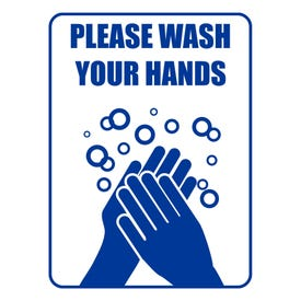 Please Wash Your Hands Aluminum Sign M413 M17L