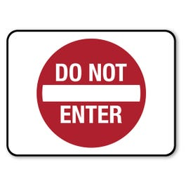 18in x 24in Do Not Enter Aluminum Sign Barricade Sign Traffic Sign M928