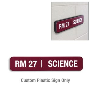 10in. X 2in. Custom Laser Engraved Plastic Sign Only DS23