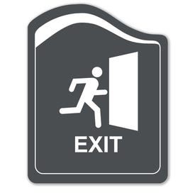 8in. X 10in. Designer Series Exit Laser Engraved Sign