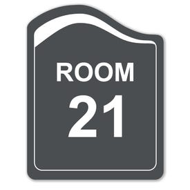 8in. X 10in. Designer Series Room Number Laser Engraved Sign