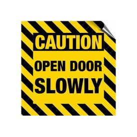 8in. High Intensity Caution Decal - Caution Open Door Slowly (3 Pack)