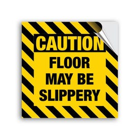 8in High Intensity Vinyl Decal Caution Floor May Be Slippery MPST60