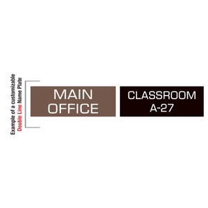 Double Line of Text Plastic Laser Engraved Custom Signs in Black or Brown MPT87