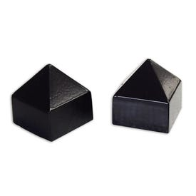 2in Square Aluminum Black Pyramid Sign Post Caps Fits 2in Sign Posts P26