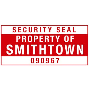 CUSTOM TAMPER RESISTANT SECURITY ID LABEL 7