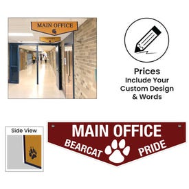 Solid Plastic Pennant Style Ceiling Hung Signs
