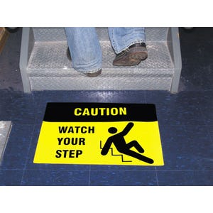 Caution Watch Your Step Anti Slip Floor Sticker Mat SS30