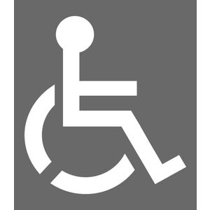 Handicapped Parking Symbol Parking Lot Stencil 35in x 39in SST110