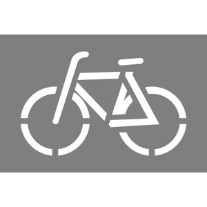 Bicycle Symbol Stencil 23in. X 36in.