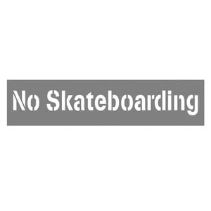 6in Letter Height No Skateboarding Parking Lot Stencil SST35