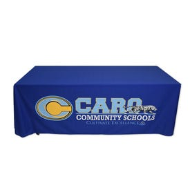 Table Skirting with Custom Logo Print on Machine Washable Fabric