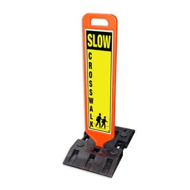 Part No. TS400G 47in. High Heavy Duty Double Sided Traffic Sign w/ Base
