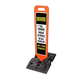 47in. High Heavy Duty Double Sided Traffic Sign w/ Base