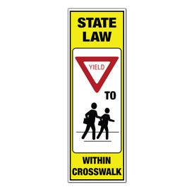 Part No. TS430 7-3/4in. x 32in. Yield To Pedestrians In Crosswalk Sign Only