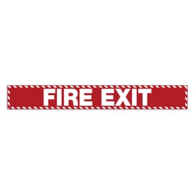 2in x 15in Door Exit Permanent Vinyl Decal Fire Exit Z16