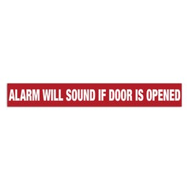 2in x 15in Door Exit Permanent Vinyl Decal Alarm Will Sound If Door Is Opened Z20
