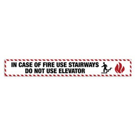 2in x 15in Door Exit Permanent Vinyl Decal In Case of Fire Use Stairways Z46